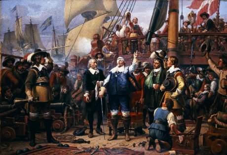 Christian 4. såret på 'Trefoldigheden' 1644